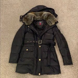 Vince Camuto winter coat w/ hood and belt size S